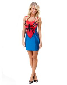 www.spirithalloween.com. Spiderman Adult Tank Dress