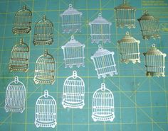 Free: 12 Metallic Bird Cage Die Cuts 2.5 Inches 2 Styles - Scrapbooking & Paper Crafts - Listia.com Auctions for Free Stuff