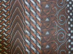 Black and Orange Shweshwe. Worldwide shipping available from http://www.meerkatshweshwe.com/