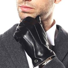 Luxury Men's Touchscreen Texting Winter Italian Nappa Leather Dress Driving Gloves (Cashmere/Wool/Fleece Lining) ( US Standard Size ), Black ( Fleece Lining )) Leather Driving Gloves, Leather Gloves, Leather Men, Smooth Leather, Best Winter Gloves, Oversized Fashion, Gloves Fashion, Men's Fashion, Winter Fashion