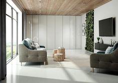 Salon : des portes battantes au style épuré qui s'intègre harmonieusement à votre intérieur Decoration, Entryway Bench, Divider, Room, Furniture, Home Decor, Style, Swinging Doors, Closet Solutions