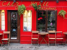 Chez Marie restaurant in Montmartre, Paris, Ile-de-France, France.  Thanks to Elisa for sharing this gorgeous capture on her Flickr page: http://www.flickr.com/photos/eily79/4257695910/in/photostream -- Eve.