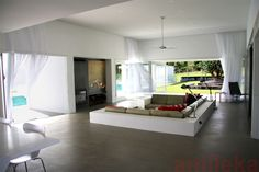 Living space: painting panel slides up in to ceiling to reveal flat screen television