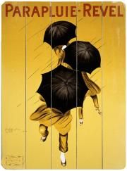 Cappiello Parapluie Umbrella Wooden Sign