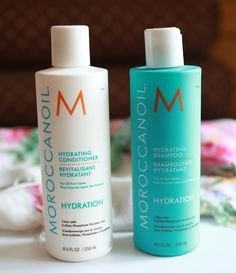 moroccan oil, hydrating shampoo, conditioner, review and details on the blog