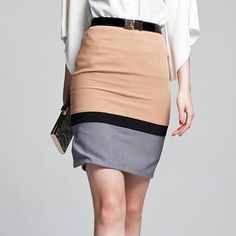 dainty - colorblock pencil skirt