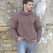 Men's Aran Sweaters in Stylecraft Life Aran