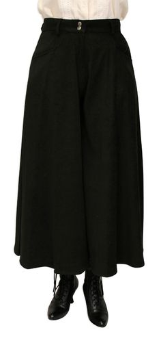 Sueded Riding Pants - Black [002813W]