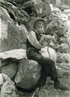John Muir, American conservationist, 1907. Photo by Francis M. Fritz
