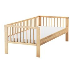 toddler bed instead of a cosleeper or a crib ....  use pillows for buffer when s/he starts to roll  (see swing bed for nap time or other unattended sleep as an infant).......GULLIVER Bed frame with slatted bed base IKEA