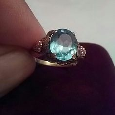 Price Drop .Vintage ring real 10k gold. Excellent condition. Beautiful piece.stone sz 10.5 mm. Jewelry Rings