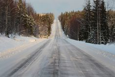 The snowy and icy winter road through the wilderness. Winter Road, Wilderness, Landscape, Outdoor, Outdoors, Outdoor Games, Landscaping