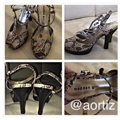 💥Snake skin sandals💥 💥Great condition - worn a couple of times💥 Shoes Sandals