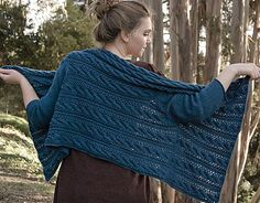 "Free knitting pattern for The Mead Sweater designed by Nora Gaughan. This cable and lace cardigan wrap is a rectangle shawl with sleeves that drapes over the shoulders. 46 - 51"" wide x 24 - 25"" long tba affiliate link More wrap cardigans at http://intheloopknitting.com/wrap-cardigan-knitting-patterns/"