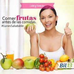 ¿Sabías que comer frutas te ayuda a tener una buena digestión? Por eso es recomendable consumir fruta antes de las comidas y/o en las mañanas. ¡Anímate y hoy come una deliciosa fruta antes del almuerzo !  Bil 13 Facilita la digestión.  #SaludyBienestarBagó #Bil13