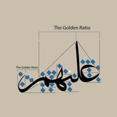 Calligraphy Lessons, Persian Calligraphy, How To Write Calligraphy, Arabic Calligraphy Art, Calligraphy Letters, Divine Proportion, Typography Alphabet, Arabic Design, Golden Ratio