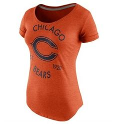 Chicago Bears Nike Wmn's Tri-Blend Scoop T