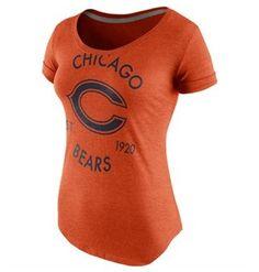 Chicago Bears Nike Wmn's Tri-Blend Scoop T
