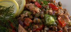 Lemony Lentil Salad with Salmon. http://drinksfeed.com/lemony-lentil-salad-with-salmon/ #foodporn
