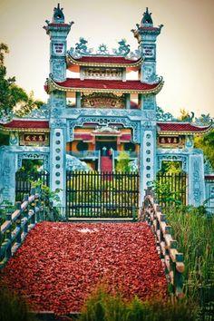 Lumbini temple gate, Nepal