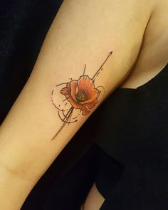 Poppy flower tattoo by daisylu tattoo Más