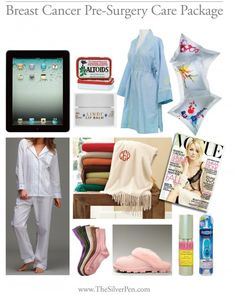 'Breast Cancer Pre-Surgery Care Package' - for a loved one who is having a mastectomy. #breastcancer #silverlining