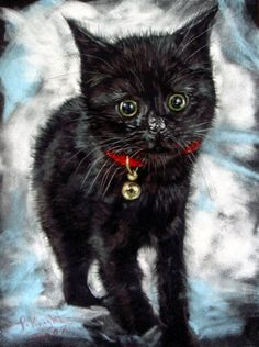 """""""Find me Somebody to Love me"""" par Paul Knight Cute Cats And Kittens, I Love Cats, Animal Paintings, Animal Drawings, Black Cat Art, Black Cats, Diviant Art, Knight Art, Work With Animals"""