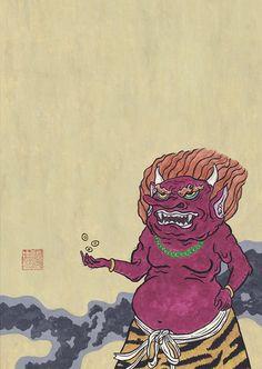手放してから気づく事もある。 #art #illustration #japan #youkai #demon #アート #イラスト #日本画 #妖怪 #鬼 Illustration, Illustrations