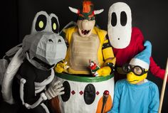 Ottawa Comiccon 2014 - Richard Dufault - Super Mario World Photoshoot with Bowser, Shy Guy, Kamek (Magikoopa) and Dry Bones