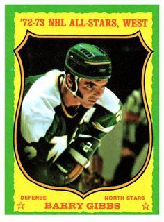 1973 Topps Barry Gibbs All Stars West Minnesota North Stars