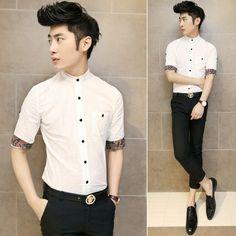 4edf63396362 2014 Trendy Shirts Half-sleeve Decorative Design Stylish Men Charming Party  Club Shirts Wholesale $24.88