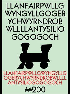"""Llanfairpwllgwyngyllgogerychwyrndrobwllllantysiliogogogoch - name of town on Anglesey island, Wales.  translates into English as """"St Mary's Church in the hollow of the white hazel near the rapid whirlpool and the church of St Tysilio with a red cave""""."""