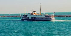 Stock Footage - Istanbul Ferry Floating Away In Bosphorus | VideoHive