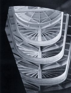 The Lingottto factory is an overlooked wonder of the world, full of stunning structural concrete, such as this spiral ramp and, of course, the racetrack on the roof.