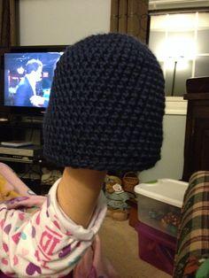 Crocheted new born beanie