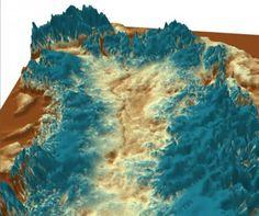 """DESCUBRIMIENTOS CIENTIFICOS (29 AGO 2013)            """"Científicos descubren un megacañón bajo la capa de hielo de Groenlandia""""."""
