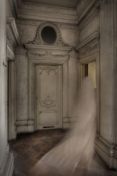 Ghostly by Bousure, via Flickr Ghost Images, Ghost Pictures, Spooky Places, Haunted Places, Haunted Houses, Haunted Mansion, Abandoned Places, Nocturne, Spirit Ghost