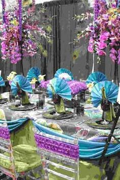 peacock theme table design