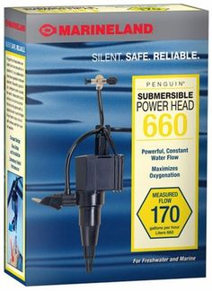 Marineland Penguin Submersible Power Head - 660 - ON SALE! http://www.saltwaterfish.com/product-marineland-penguin-submersible-power-head-660