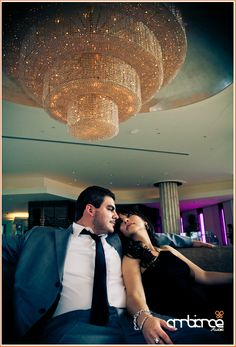 Engagement session #Fountainebleau #hotel #Miami #chandelier