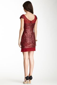Betsey Johnson Mesh & Sequin Dress on HauteLook