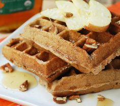 Apple Coconut Waffles | Multiply Delicious