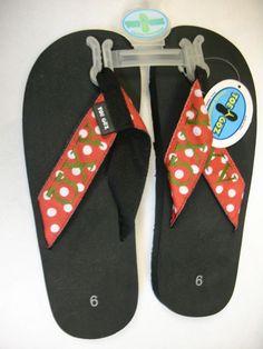 Alpha Chi Omega Polka Dot Toe Goz Flip Flops