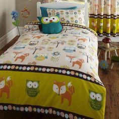 Lot Housse De Couette Simple Motif Créatures Bois Chouette Renard in Maison, Literie, linge de lit, Linge de lit, ensembles | eBay