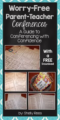 Parent Teacher Conferences Worry-Free. Great guide for approaching conferences with less stress. FREE download, too!