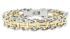 A one of a kind Stainless-Steel-Gold-Bracelet. Perfect luxury!