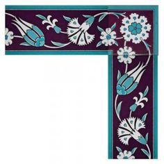 Turkish Tiles, Turkish Art, Mirror Painting, Fabric Painting, Border Pattern, Pattern Art, Tile Art, Mosaic Art, Arabian Pattern