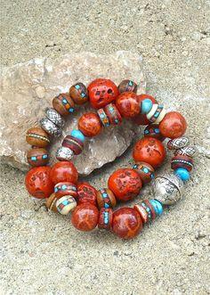 Bracelets from TheJoyMoosCollection. Please also visit my Etsy shop LarisaButique: www.etsy.com/shop/LarisaBoutique