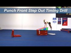 Punch Front Step Out Timing drill Timing is important when coordinating a punch front step out to round off tumbling series. With a stack of booster blocks, . Gymnastics Lessons, Gymnastics Academy, All About Gymnastics, Boys Gymnastics, Gymnastics Floor, Gymnastics Tricks, Tumbling Gymnastics, Gymnastics Coaching, Gymnastics Training