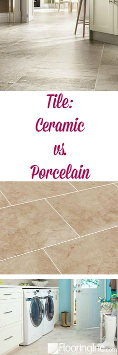 Tile: Ceramic vs. Porcelain. Ever wonder what the difference is between ceramic tile and porcelain tile? The ins and outs and how to choose the right tile for you in this post.